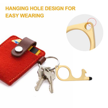 Load image into Gallery viewer, Custom Logo No-Touch Anti-bacterial Opener Keychain & Promotional Contactless Door Opener