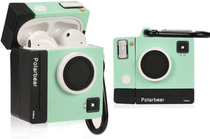 Airpod 1/2 Case Cover For Lupct Green Camera