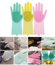 Load image into Gallery viewer, Magic Silicone Scrubber Rubber Cleaning Gloves, Dusting Dish Washing Pet Care Grooming Hair Car Insulated Kitchen Helper,1 Pair