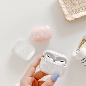 Airpod Pro & Airpod 1/2 Crystal Case Cover White And Pink Crystal