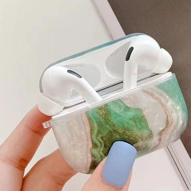 Airpod Pro & Airpod 1/2 Rock Case Cover Green White Rock