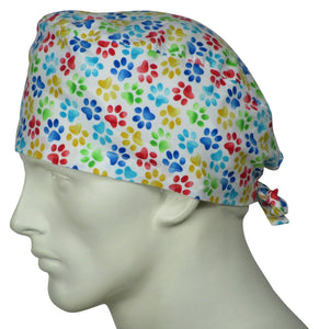 Bulk Scrub Caps, Printed Scrub Caps - One Size Fits All