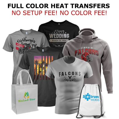 Promotional Custom Heat Transfer For Blank Apparel