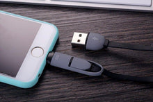 Load image into Gallery viewer, Custom Logo 2 In 1 Micro Usb Cable Android, Apple Mobile Phone Charger