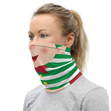 Load image into Gallery viewer, Santa Claus and Elf Neck Gaiter Christmas Double Sided St Nick and Elf Design