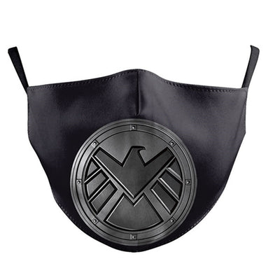Marvel Printed Face Mask, Washable Cloth Reusable Dust Proof  Face Cover With 2 Extra Filters