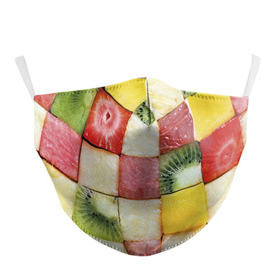 3D Fruit Printed Face Mask, Washable Cloth Reusable Dust Proof  Face Cover With 2 Extra Filters