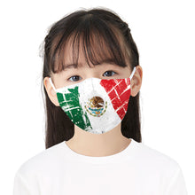 Load image into Gallery viewer, Colorful Flag Printed Face Mask, Washable Cloth Reusable Dust Proof  Face Cover With 2 Extra Filters