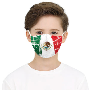 Colorful Flag Printed Face Mask, Washable Cloth Reusable Dust Proof  Face Cover With 2 Extra Filters
