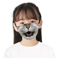 Load image into Gallery viewer, Cute Cats Printed Face Mask, Washable Cloth Reusable Dust Proof  Face Cover With 2 Extra Filters