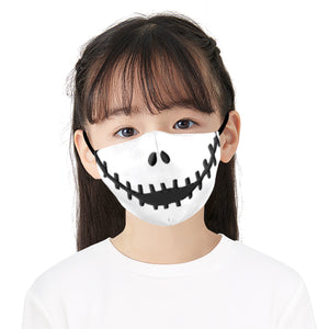 Comedy Clown Printed Face Mask, Washable Cloth Reusable Dust Proof  Face Cover With 2 Extra Filters