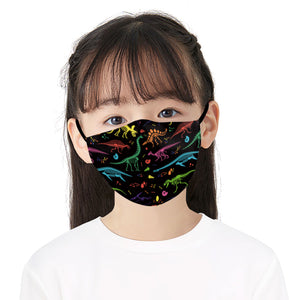 Cartoon Family Printed Face Mask, Washable Cloth Reusable Dust Proof  Face Cover With 2 Extra Filters