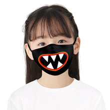 Load image into Gallery viewer, Simple Film Printed Face Mask, Washable Cloth Reusable Dust Proof  Face Cover With 2 Extra Filters