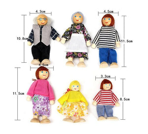 Traditional 6 Members Family Finger Puppets
