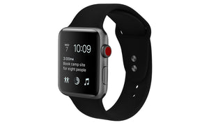 Bulk Apple Design Sport Replacement Band With Protective Case for Apple Watch Series 1, 2, 3, 4, 5 & Sport