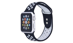 Wholesale Breathable Silicone Sport Band for Apple Watch Series 1, 2, 3, 4, 5 and Sport