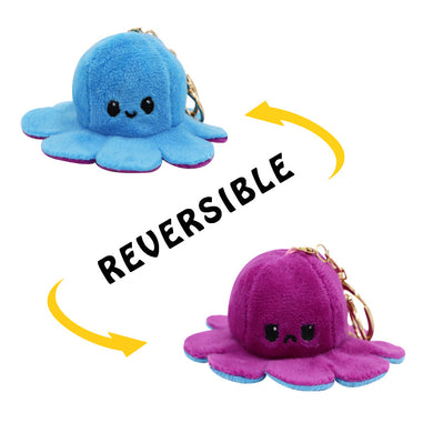 Wholesale Reversible Plushie Toys, Flip Mood Toy Octopus Key Chain