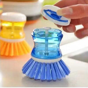 Custom Logo Kitchen Scrub Brush, Soap Dispensing Dish Brush