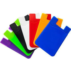 Bulk Adhesive Cell Phone Wallets for Sublimation, Screen Printing and Customization - 100 Pack