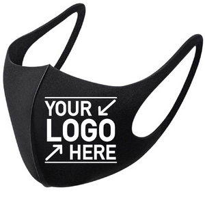 Custom Promotional Cheap Face Masks, Logo Reusable Face Mask - 1 Ply