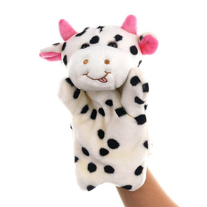 Cow Hand Stage Puppet Playing, Teaching Plush Toys