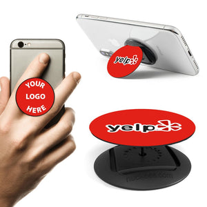 Promotional Custom Logo Nuckees Pop Phone Grip Stand With Retail Package