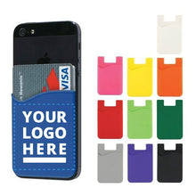 Load image into Gallery viewer, Promotional Custom Logo Adhesive Cell Phone Wallets