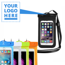Load image into Gallery viewer, Custom Logo Universal Waterproof Phone Pouch Case