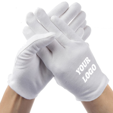 Load image into Gallery viewer, Custom Logo Cotton Gloves Protects From Dust, Pollution And Cold - Washable & Reusable