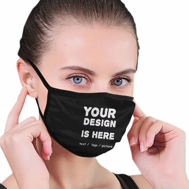 Custom Logo Cotton Face Mask Protects From Dust, Pollution And Cold - 2 Ply