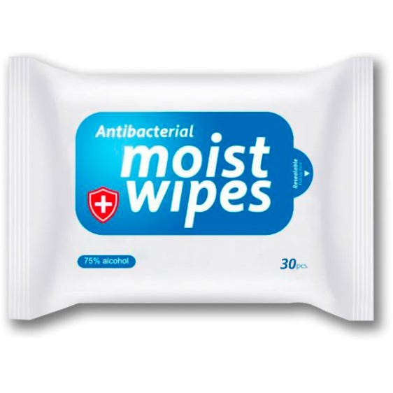 Custom Logo Alcohol Wipes 10 Pack of Antibacterial Wet Wipes