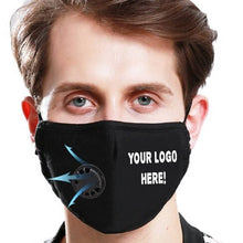 Load image into Gallery viewer, Custom Logo PM2.5 Filter Face Masks With Extra Carbon Filters Respirator Mask