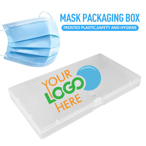 Custom Logo Mask Case, Face Mask Carry Box Container