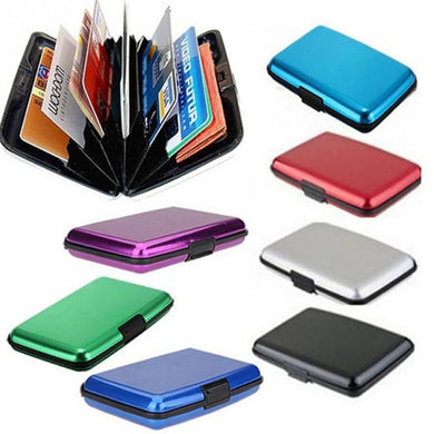 Custom Logo Promotional Waterproof Metal Case Wallet