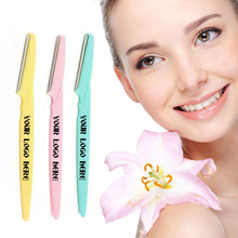Load image into Gallery viewer, Custom Logo Eyebrow Razor, Promotional Facial Razor For Giveaway