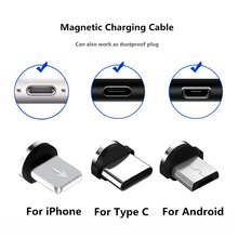 Load image into Gallery viewer, Custom Logo Magnetic Charger Micro USB Cable, Fast Charging Magnet USB Iphone, Type C & Android Heads