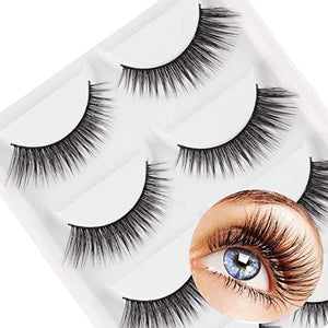10 Pieces Natural Sparse Cross Eye Lashes Extension