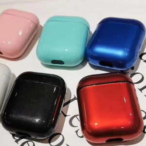 Wholesale Airpod Hard Cover Glassy Shiny Protective Airpod Case