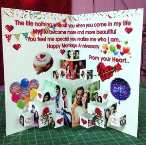 Promotional Custom 3D Pop Up Paper Greeting Cards For Multi Purpose Use