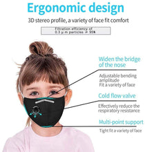 Load image into Gallery viewer, Custom Logo PM2.5 Filter Kids Mask With Extra Carbon Filters Respirator Mask