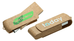 Custom Eco Friendly Usb, Logo Recycled Thumb Drive, Promotional Flash Drives