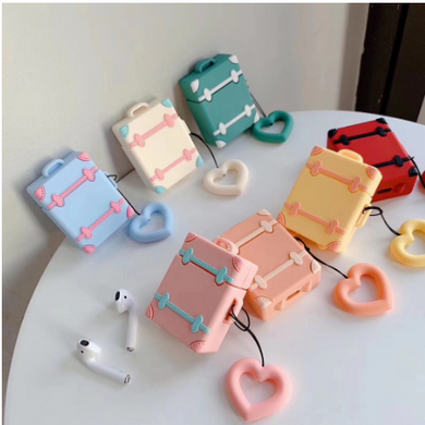 Wholesale Airpod Soft Cover Luggage Case With Heart Luggage Tag
