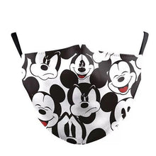 Load image into Gallery viewer, Mouse Printed Face Mask, Washable Cloth Reusable Dust Proof  Face Cover With 2 Extra Filters