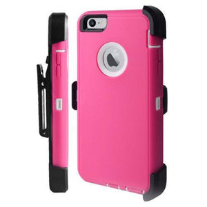 Iphone Heavy Duty Life Proof Built-in Screen Protector and Belt Clip Defender Cases Mix Colors - All Models