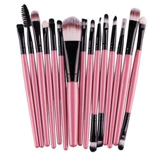 Load image into Gallery viewer, 15 Pieces Set Eye Shadow Foundation Eyebrow Lip Brush Makeup Brushes Tool