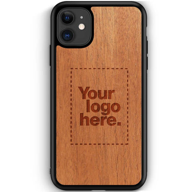 Promotional Custom Logo Handmade Laser Carved Wood Phone Cases