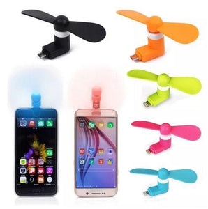 Custom Logo Mini Portable Power Micro Cool Fan 2 in 1 For iPhones And Android Phones