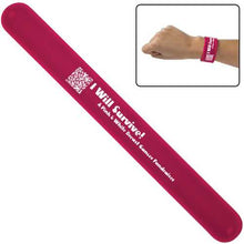 Load image into Gallery viewer, Promotional Custom Logo Silicone Slap Bracelet Wristbands