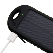 Load image into Gallery viewer, Promotional Custom Logo Water Resistant Solar Power Bank Dual USB Ports 5000mAh