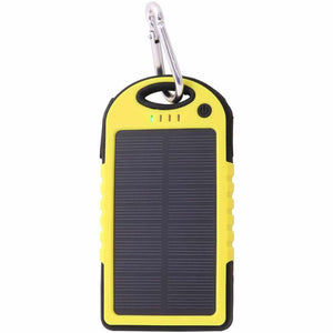 Promotional Custom Logo Water Resistant Solar Power Bank Dual USB Ports 5000mAh